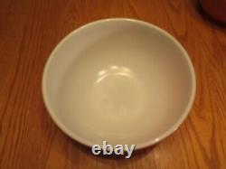 Vintage Pyrex FLAMEGLO Mixing Nesting Bowls Fall Colors Complete Set Of 4