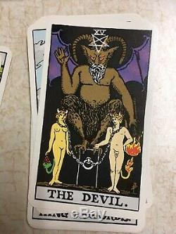Vtg 1968 Albano-Waite New Color Deluxe Edition Tarot Cards (78) Complete SET USA