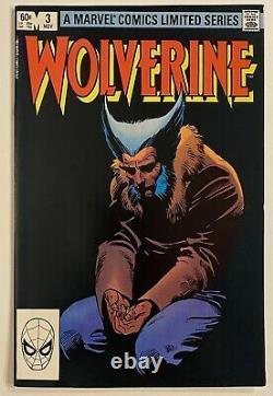 WOLVERINE Limited Series #1-4 1982 Frank Miller Claremont. Marvel Comics. VF+