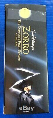 Walt Disney's Zorro The Complete 1st Season (5 Disc Set) Dvd, Exc Cond Color