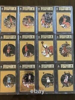 1 / 1 Michael Jordan Complete 22kt Gold Set Bgs 9 + 3 Color Game Used Patch