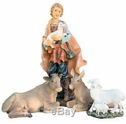 12 Grand Nativité De Noël Ensemble Complet De 11piece El Nacimiento Comprend Sheph
