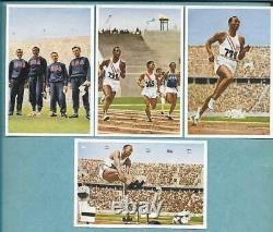 1936 Jeux Olympiques De Berlin Jesse Owens Color Rookies Muhlen Franck Psa + Ensemble Complet
