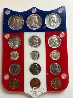 1951,1952,1953 Argent Complete Proof Sets In Shield Colorés Voir Pièces Apollo