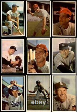 1953 Bowman Color Baseball Ensemble Complet 4 Vg/ex