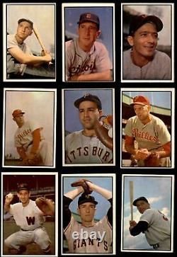 1953 Bowman Color Baseball Ensemble Complet 5 Ex