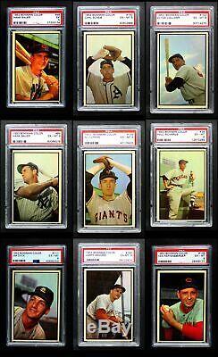 1953 Bowman Couleur Baseball Complete Set 6 Ex / Mt