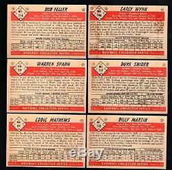 1953 Bowman Couleur Baseball Ensemble Complet 1-160 Manteau Mickey! Vg / Ex Ex Cond