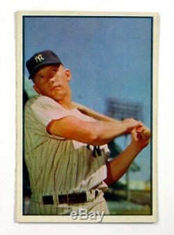 1953 Bowman Couleur Baseball Ensemble Complet Dans Le Classeur (160) Avg Ex Mantle