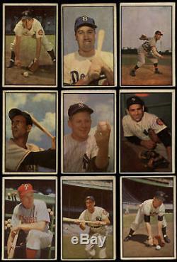 1953 Bowman Couleur Carte De Base-ball Complète 160 Set Cartes Bas Niveau Stained