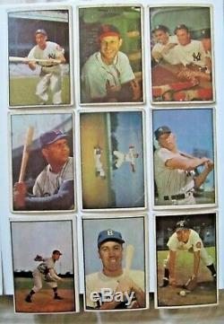 1953 Bowman Couleur Lots Complete Set Of Stars Belle Et Rare Vgex Ensemble