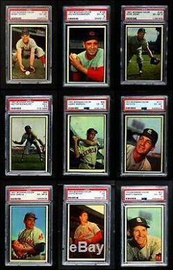 1953 Ensemble Complet De Baseball Couleur Bowman Ex / Mt