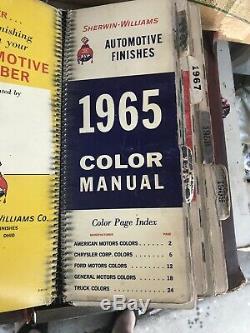 1961-1970 Sherwin Williams Peinture Manuel Couleur. Jeu Complet Compris Hard Cover
