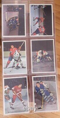 1963-64 Hockey Stars In Action Toronto Star- Ensemble Complet De 42 Photos Couleur