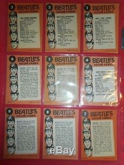 1964 Beatles Couleur Complete (64) Set Carte Topps (haute Qualité)