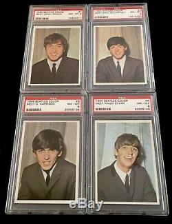 1964 Beatles Couleur Psa 8 Complete Set Paul Mccartney Band 64 Carte Topps Registre