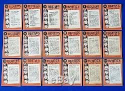 1964 Cartes Beatles Topps Couleur Près De Complete Set 59/64 Cartes Nm