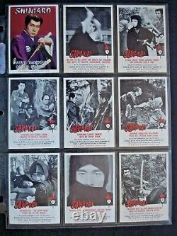 1964 Scanlens Samurai Ensemble De 72 Cartes Complet + En-tête Couleur Ex/nm Rare