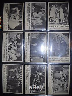 1966 3 Trois Stooges Complete (66) Jeu De Carte Fleer Beaucoup Plus Rare Que De Jeu De Couleurs