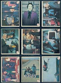 1966 Topps Opc O Pee Chee Batman Photos Couleur Tv Show 55 Carte Complete Set Ex +