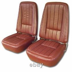 1968 Corvette Seat Covers Leather Complete Set Any Factory Color C3 Nouveau