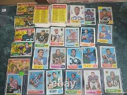 1968 Topps Carte De Football Ensemble Complet 219/219 Ex/ex+ Grande Couleur