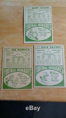 1968 Topps Football Ensemble Complet 219/219 Ex + Grande Couleur