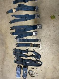 1970 Ceintures De Sécurité D'origine Camaro. Couleur Bleu. Ensemble Complet. Arrière Et Avant