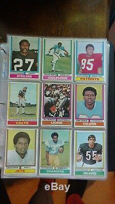 1974 Jeu Complet De Football Topps 528/528 Ex-ex = Belle Couleur Ainsi Que 17 Cartes D'équipe