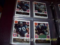 1986 NFL Fb Set Complete De Mcdonald Tous Les 29 Jeux / Tous Les 4 Couleurs Super Rare