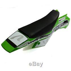 1x Mini Quad Bike Vtt Carénage Kit Set Complet Plastique De Couleur Verte Seat