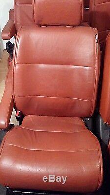 2004-09 Nissan Quest 7 Set Sièges En Cuir Complet Code De Couleur Rouge (g)