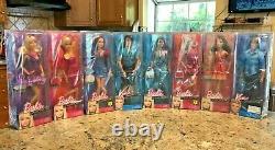 2012 Barbie Fashionistas Wave 07 Couleurs Édition Articulés Dolls Complete Set