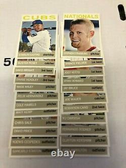 2013 Topps Heritage Baseball Couleur Inverser Variation Complétée 25 Ct.