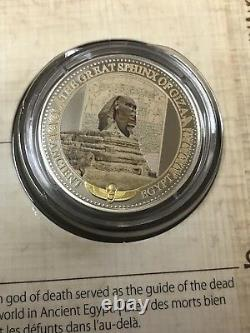 2015 Gold-plated Silver Colorized Coins Ancient Egypt Complete 10 Coin Set W Coa