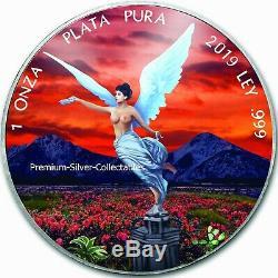 2019 Mexique Libertad Jeu Complet De 4 X 1 Silver Coin Ounce Colorisation Série