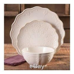 24 Pc Élégant Set Dentelle Vaisselle Ferme, Vaisselle Assiettes & Bols, Linge De Couleur