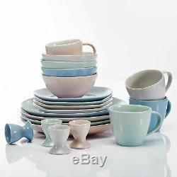 40pc Dîner Set Multi-couleur Baie Vitrée Vaisselle En Porcelaine Vaisselle 8 Dressée