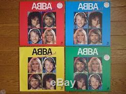 Abba Lot De 4 Japon Seulement Limitée Couleur Lp Complete Set 1982 10ème Anniversaire