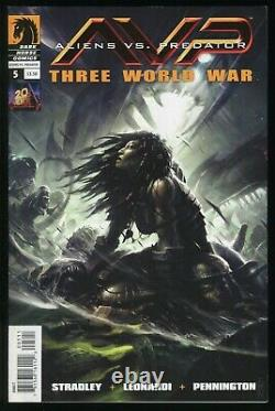 Aliens Vs Predator Ensemble De Comiques De Trois Guerres Mondiales 1-2-3-4-5-6 Lot Avp Colonial Marine