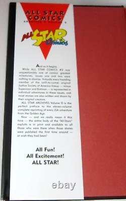 All Star Comics DC Archives Volume 0-11 12 Livres Vg Couvertures Rigides Ensemble Complet