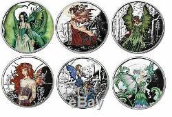 Amy Brown Colorisation Fée Coin Ensemble Complet De 6 Red Queen-dame De La Forêt Ect