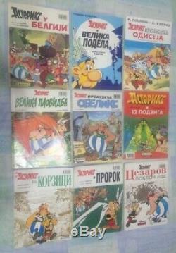 Astérix Asteriks Jeu Complet 1-27 Serbe Politika Édition A4 Couleur