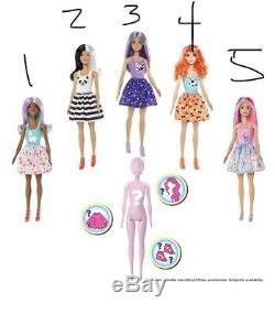 Barbie Doll Couleur Reveal 7 Surprises Changement De Couleur Poupées Complete De 5