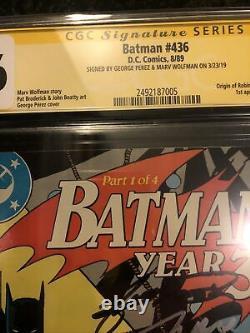 Batman #436 437 438 439 Année 3 Compléter La Première Apparition Tim Drake Cgc Signé 2x