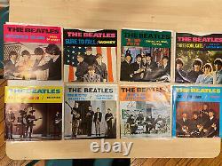 Beatles Lot De 8 Déccagone 45rpm Ensemble Complet De Vinyle Coloré Vg+/nm Rare Et Htf