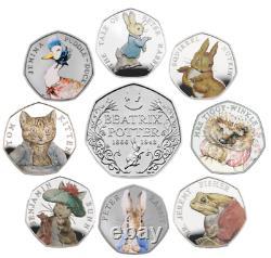 Beatrix Potter 50p Unc Couleur Decal Benjamin, Peter, Flopsy, Tailor, Tittlemouse