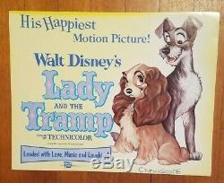 Belle Et Le Clochard R'1962 Orig. Couleur Complete 11x14 Set Card Hall 9 Disney