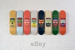 Boîtes De Soupe D'andy Warhol Planche À Roulettes De Couleur Campbell Imprimer Complète Le Jeu De 8