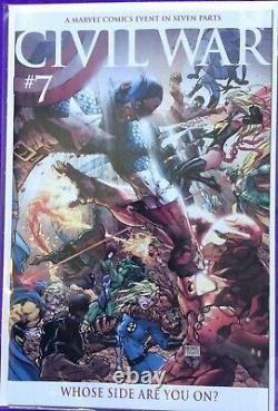 CIVIL War Turner Variant Set 1-7 Marvel Color Variantes Ensemble Complet